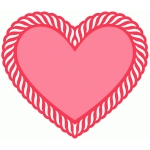 heart with rope border