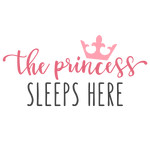 the princess sleeps here phrase