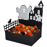 ghostly haunted house treat dish