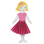 emily accordion dress - paper doll