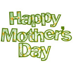 happy mother's day - outlined