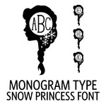 monogram type - snow princess