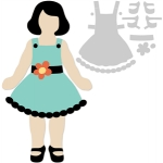 basic paper dolls sash dress and shoes
