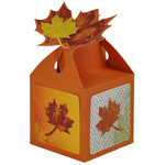 autumn leaf topper treat box