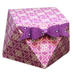 faceted box with bow