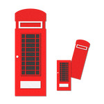 pocket / insert card - london telephone box