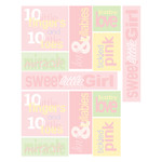 baby girl word stickers