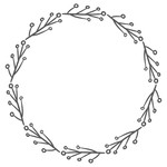 twig branch monogram frame