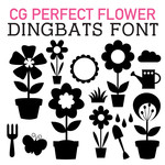 cg perfect flower dingbats