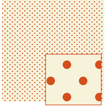 creme with rust polka dot pattern