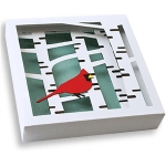 3d wall art - cardinal and birch trees (2 of 2)