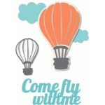 'come fly with me' hot air balloon