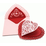 valentine card envelope set
