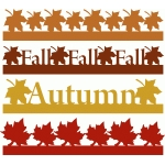 fall & autumn borders set