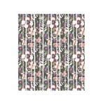watercolor floral pattern washi planner stickers- slate