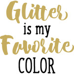 baby t-shirt: glitter is my color