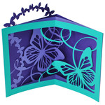 flourished butterfly tunnel card