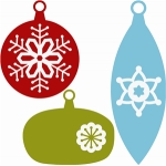 3 christmas ornaments