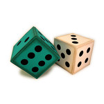 dice traditional 3d blocks