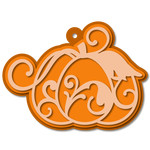 layered flourish pumpkin tag