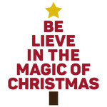 believe in the magic of christmas word tree