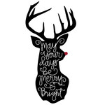 may your days be merry & bright reindeer phrase