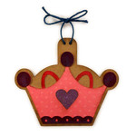 crown girl ornament