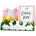 easter bunny side step card