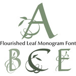 flourished leaf monogram font
