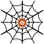 spooky spiderweb printable