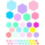 colorful hexagons stickers