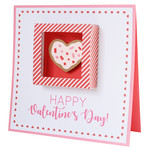 heart sugar cookie box card