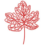 filigree maple leaf