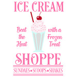 ice cream shoppe sign