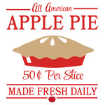 apple pie sign