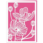 japanese anemones card