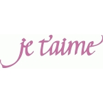 je t'aime - calligraphy
