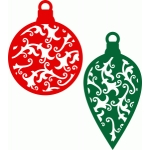 christmas ornaments damask