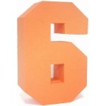 3d square number block 6