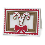candy cane shadow box card