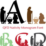 qfd nativity monogram font