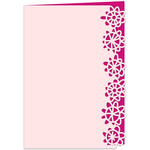 happy flowers lace edged card