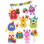 birthday monster stickers