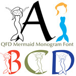 qfd mermaid monogram font