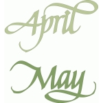 april may - italic calligraphy