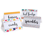 ice cream topping labels sprinkles