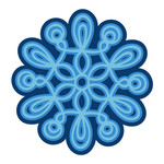 layered loopy snowflake
