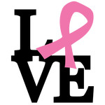 stacked love - breast cancer phrase