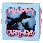 happy birthday kitties gift card box