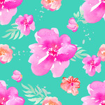hawaiian tropical background flowers pattern